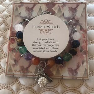 Semi-precious stones bracelet with blessed mss